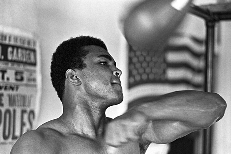 Muhammad Ali, Speed Bag, Miami Beach, 1970