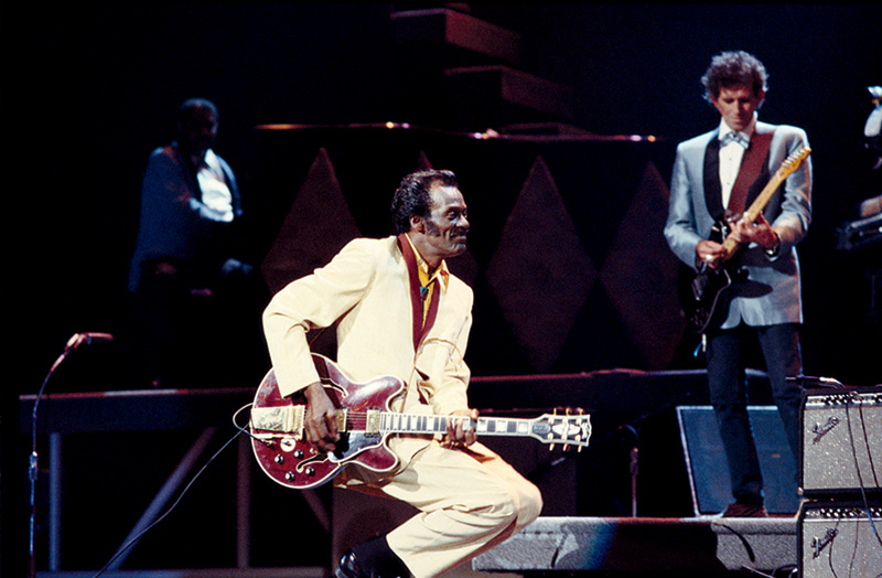 Chuck Berry & Keith Richards Onstage, St Louis, MO, 1986