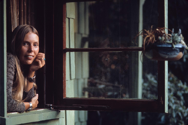 Joni Mitchell in the Window, Laurel Canyon, 1970