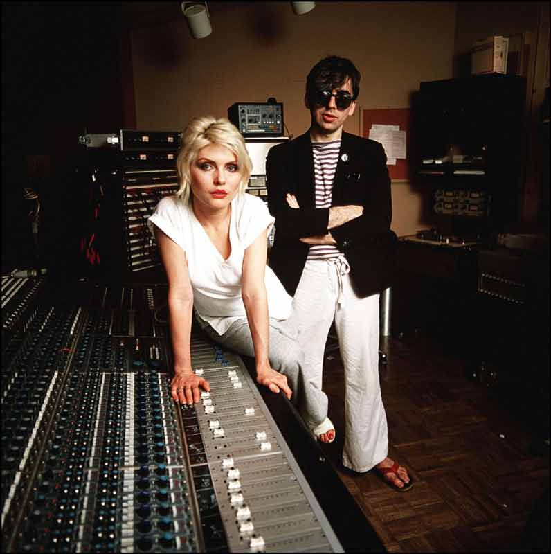 Debbie Harry and Chris Stein of Blondie at the MediaSound Recording Studio, NYC, 1979