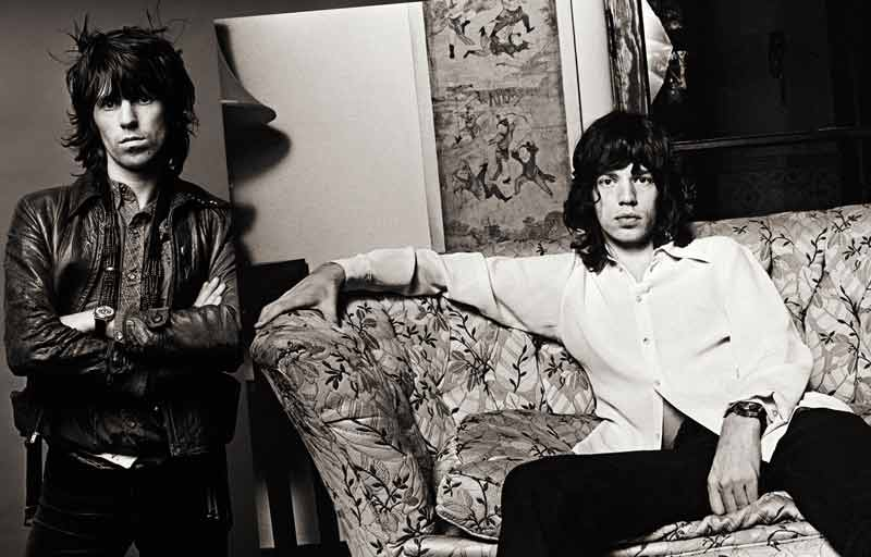 Keith Richards & Mick Jagger Session Spread, LA, 1972
