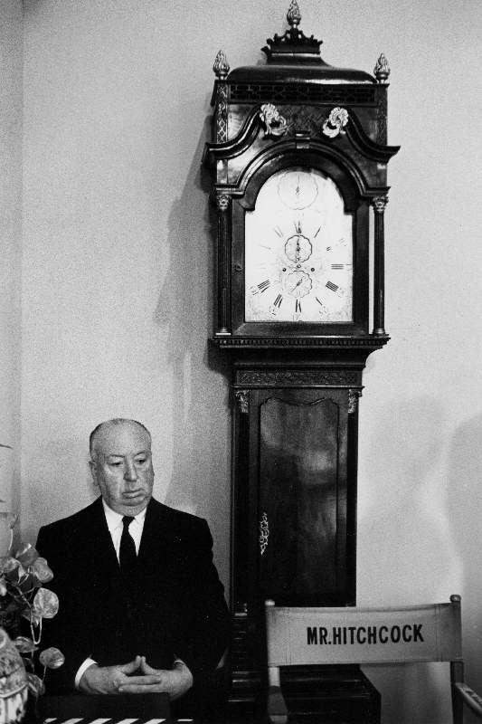 Alfred Hitchcock on the Set of Marnie, 1964