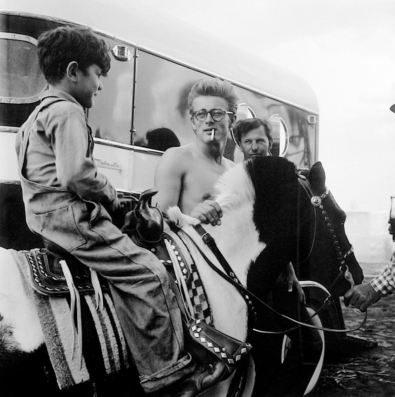 James Dean With a Child on Pony, Behind the Scenes on the Set of Giant, TX, 1955