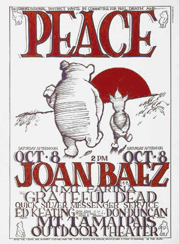 Joan Baez, Concert For Peace Poster Print, 1966