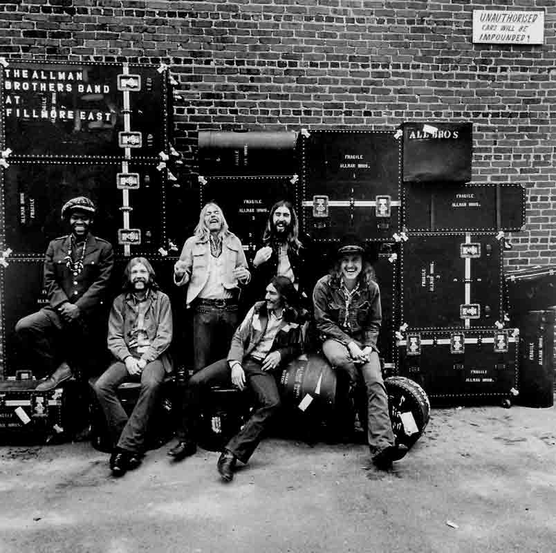 The Allman Brothers Band, At Fillmore East Album Cover, 1971