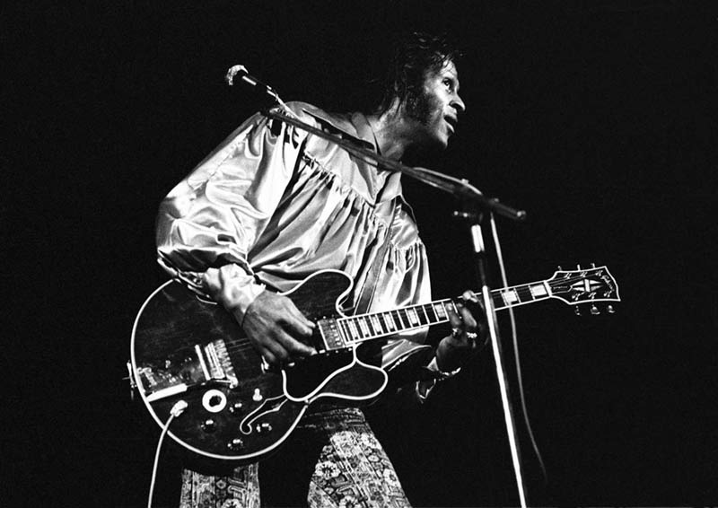 Chuck Berry Performing at the Lewisham Odeon, South London, 1973