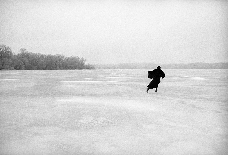 Joni Mitchell Skating on Lake Mendota, WI, 1976