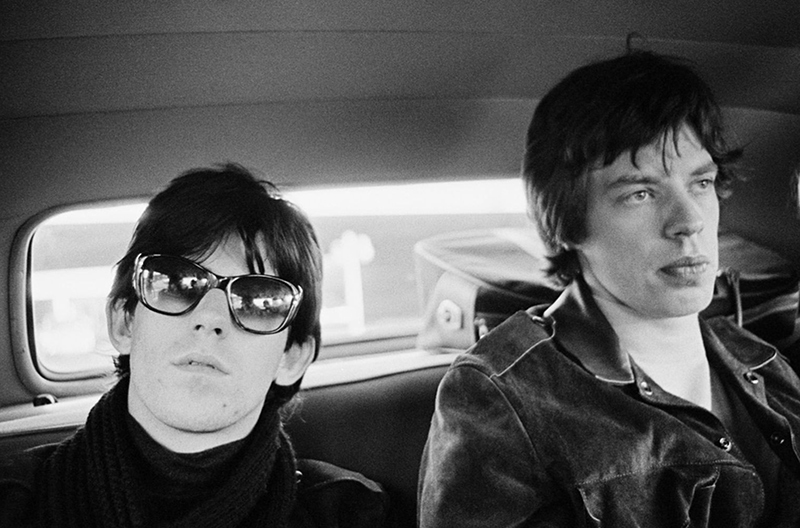 Keith Richards and Mick Jagger in Limo on US Tour, New York, 1965
