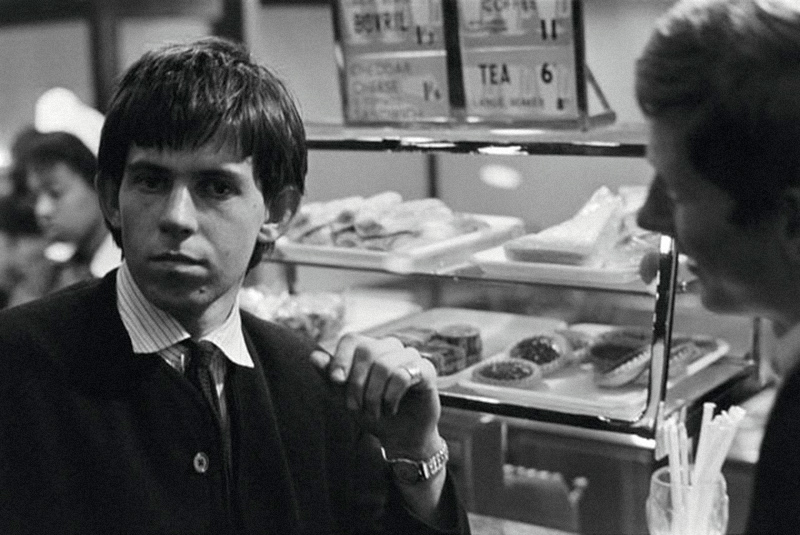 Keith Richards and Andrew Loog Oldham, Lunch Line, 1963
