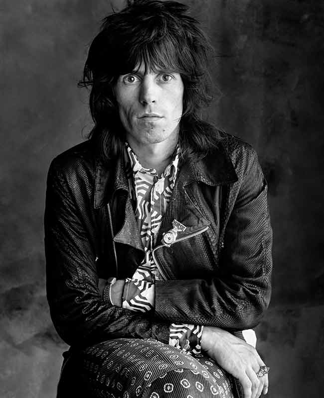 Keith Richards, Sticky Fingers - Seated Stone, London, 1971