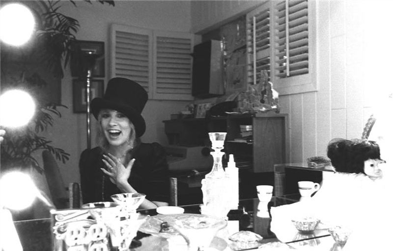 Stevie Nicks, Dressing Room Top Hat, Venice Beach, 1981