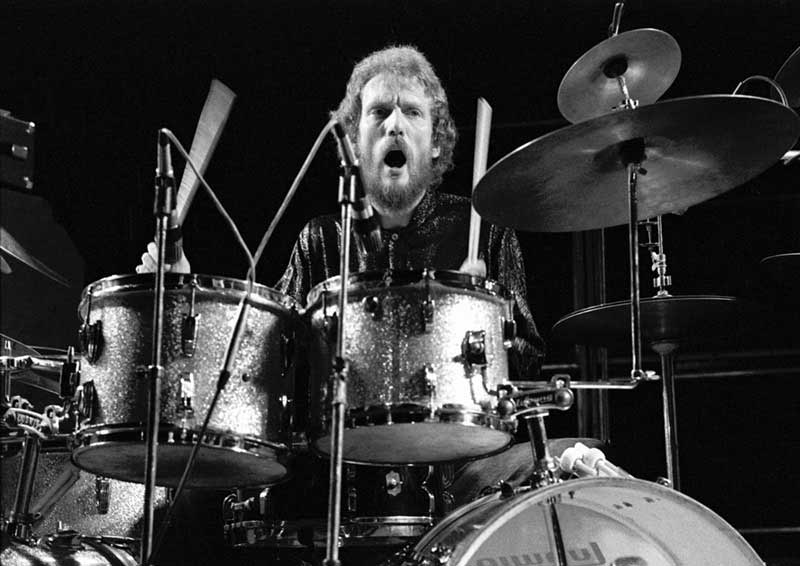 Ginger Baker Performing, Rainbow Theatre, 1974