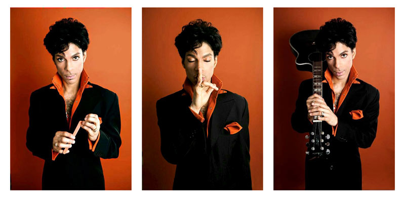 Prince Red Triptych Backstage on the Musicology Tour Summer, 2004