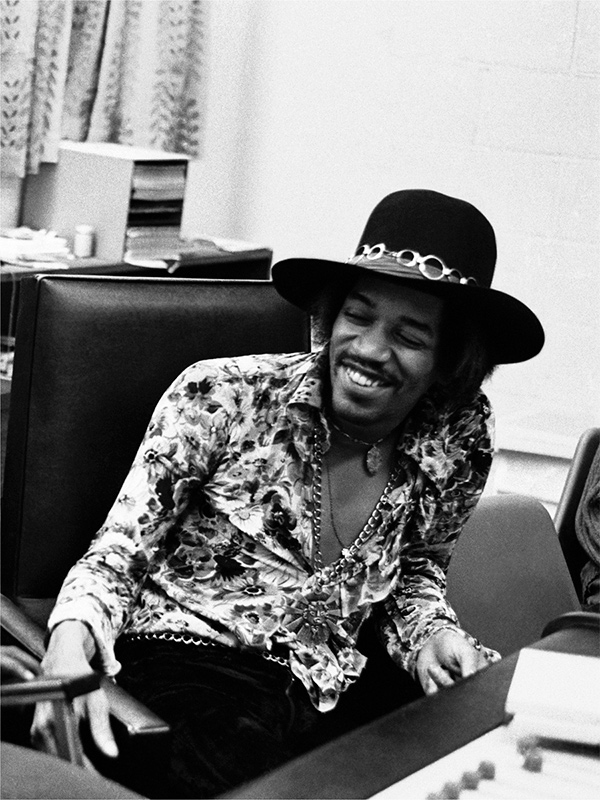 Jimi Hendrix Laughing, The Record Plant, NYC, 1968