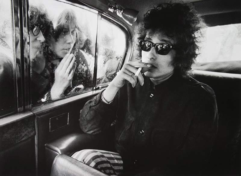 Bob Dylan in Limo, London, 1966