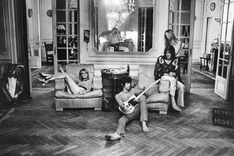Keith Richards, Telecaster, Nellcôte, France, 1971