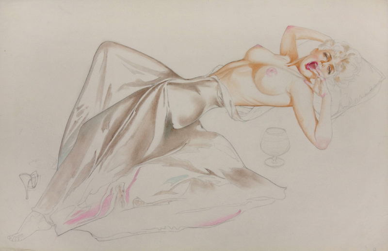 Study of a Reclining Partially Nude Platinum Blonde, 1962