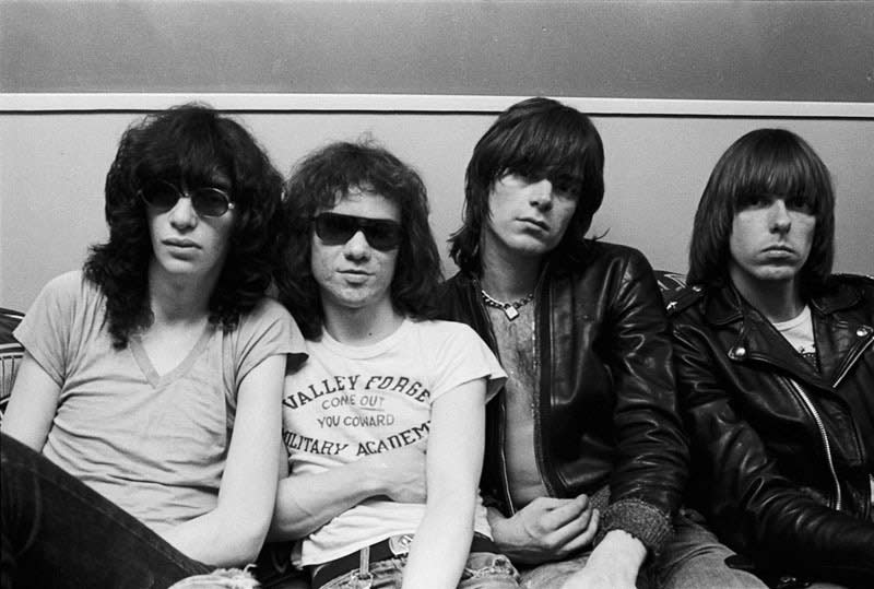 The Ramones Backstage at The Bottom Line, NYC, 1976