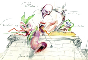 Gerald Scarfe First Character Study