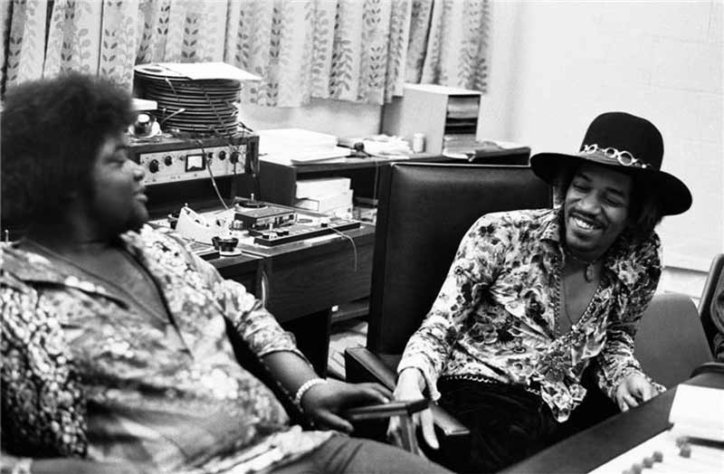 Jimi Hendrix & Buddy Miles Laughing, The Record Plant, NYC, 1968