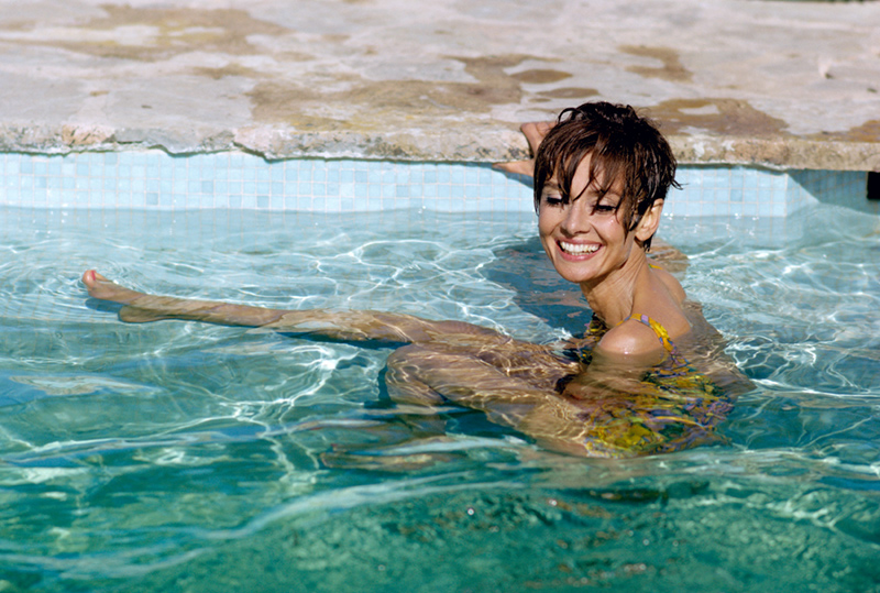 Audrey Hepburn, Swims, South of France, 1966