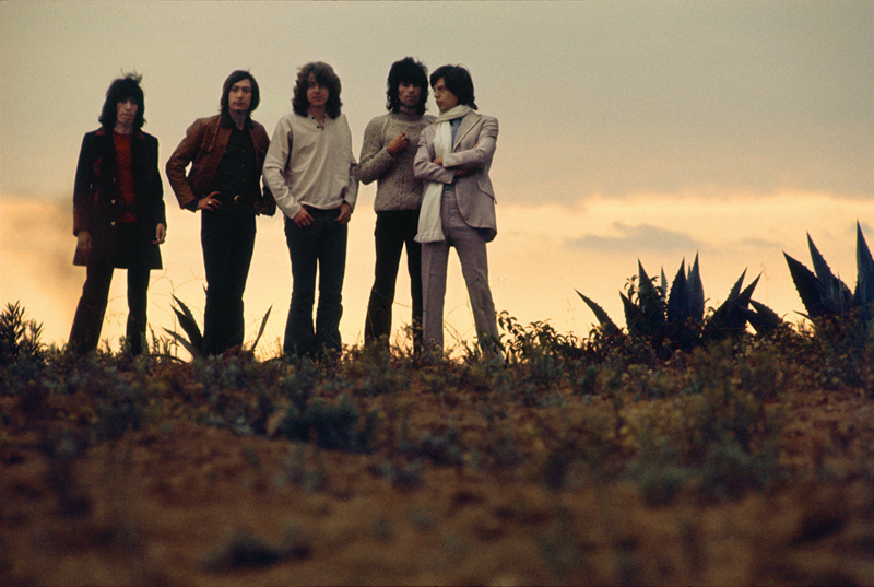 The Rolling Stones On a Los Angeles Hilltop, 1969