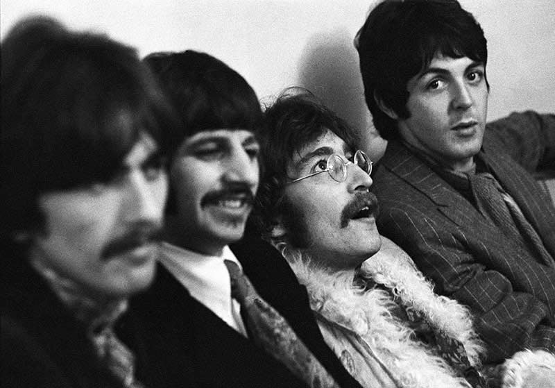 The Beatles at the Sgt. Pepper Release Party, Brian Epstein's House, Belgravia, London, 1967
