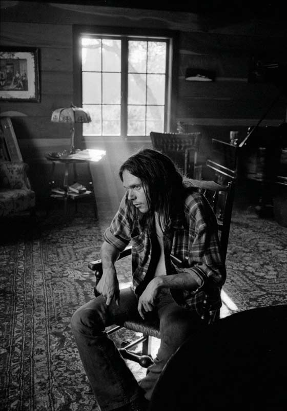 Neil Young at Broken Arrow Ranch, CA, 1971
