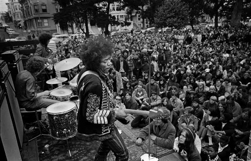 Jimi Hendrix Free Concert, The Panhandle San Francisco, 1967