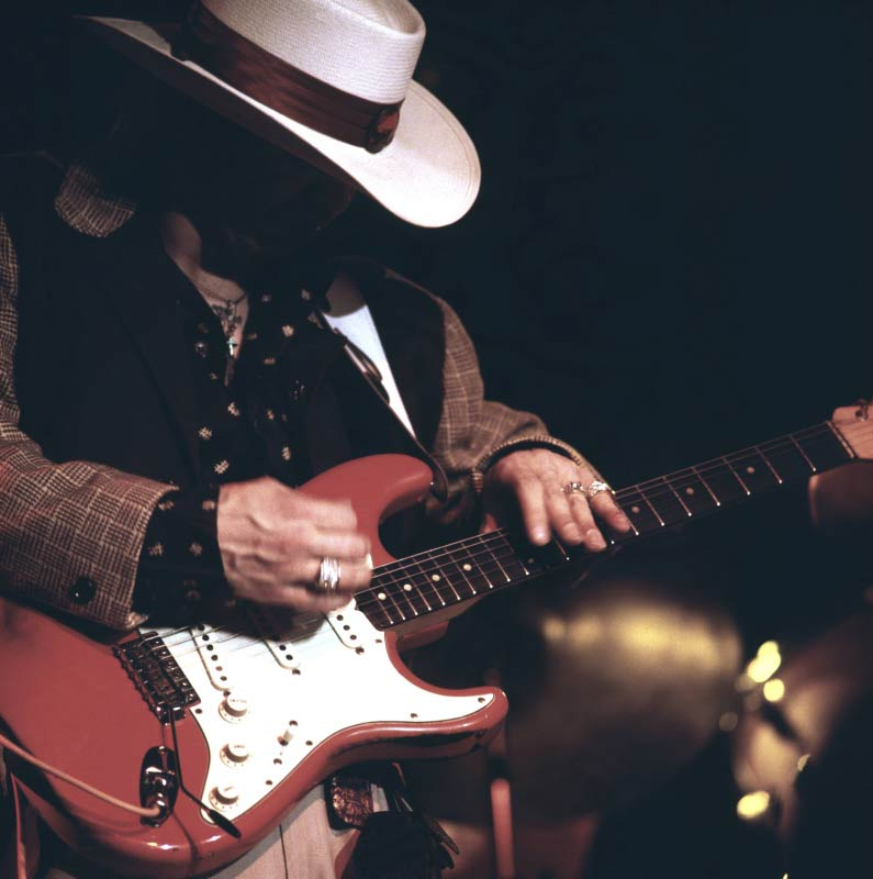Stevie Ray Vaughan Performing at the New Orleans Jazz Festival, 1985