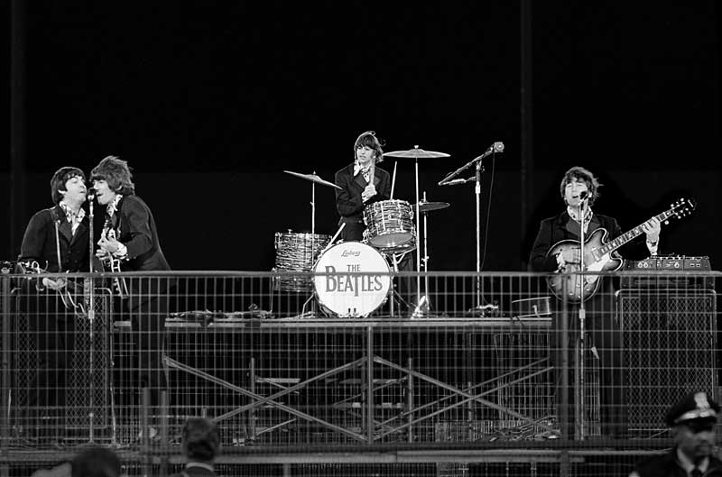 The Beatles Performing, Candlestick Park San Francisco, 1966