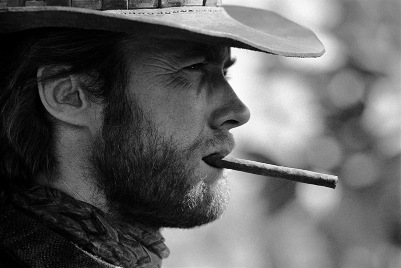 Clint Eastwood With Cigar, Durango, Mexico, 1969