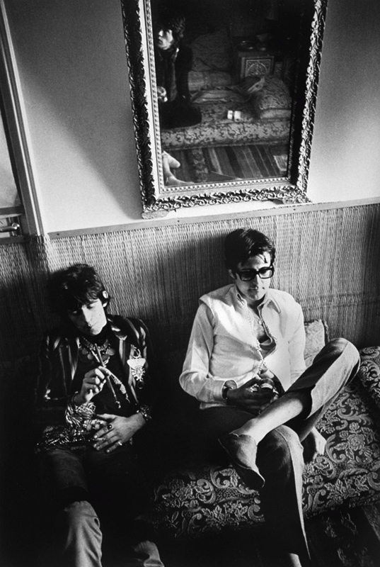 Keith Richards and Robert Fraser on a Banquette, Morocco, 1967