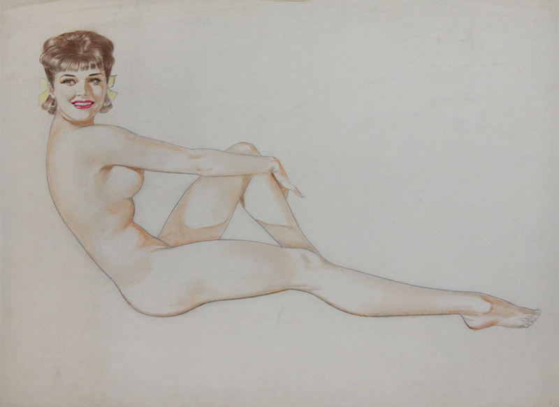 Study of a Seated Nude Brunette, 1944