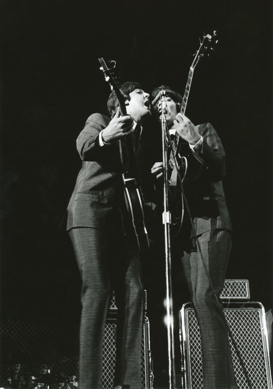 Paul McCartney & George Harrison Onstage, Cow Palace San Francisco, 1965