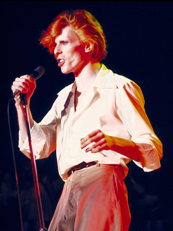 David Bowie Singing, Boston Music Hall, 1974 (Color)