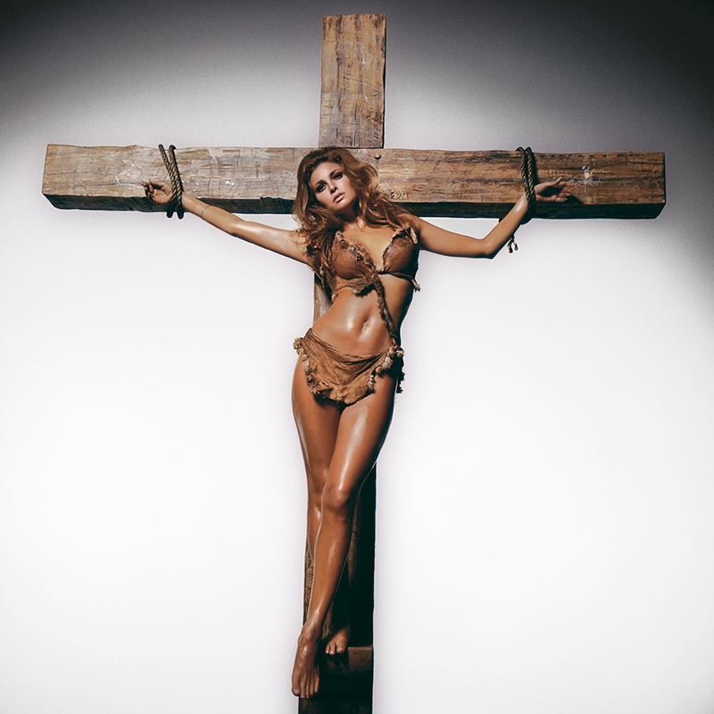 Raquel Welch On The Cross, Los Angeles, 1966