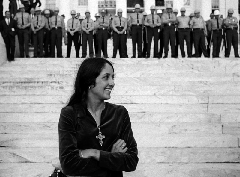 Joan Baez, National Guard, Alabama State Capitol, 1965