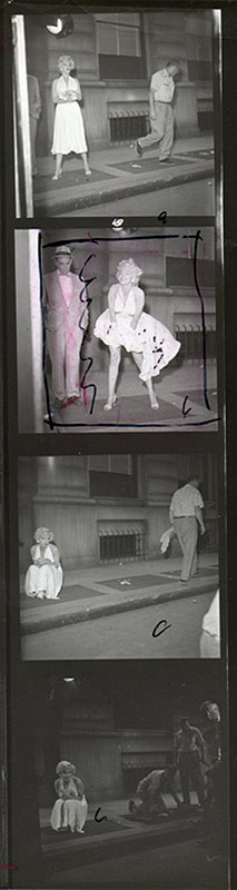 Marilyn Monroe, The Seven Year Itch Contact Sheet with Crop Marks, 1954