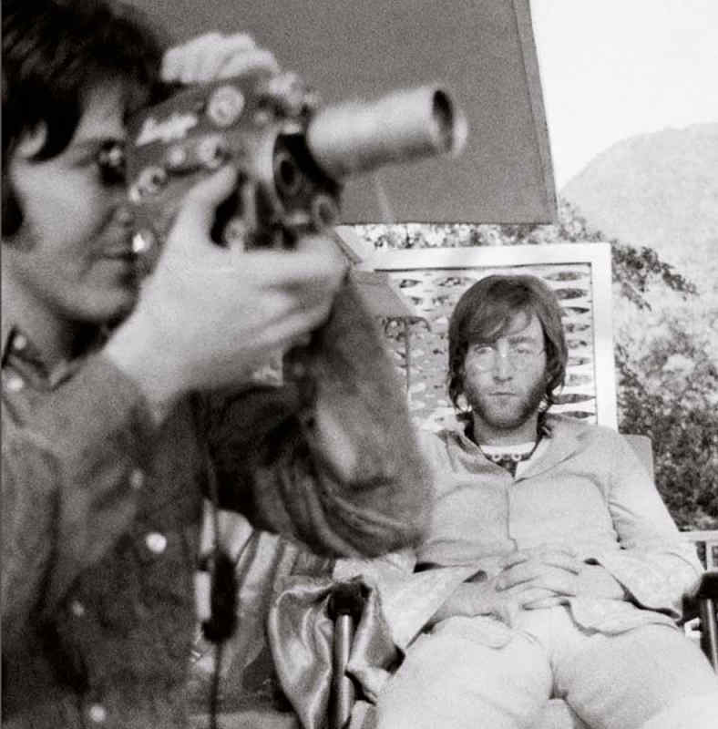 John & Paul with Super 8, India, 1968