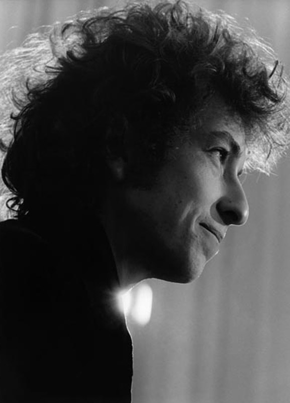 Bob Dylan Smiles, Hollywood Press Conference, 1965