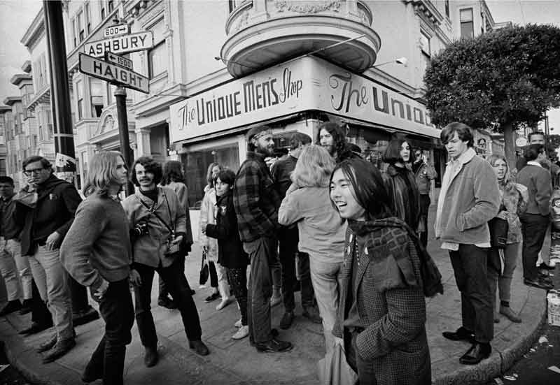 Haight-Ashbury Street Corner, San Francisco, 1967