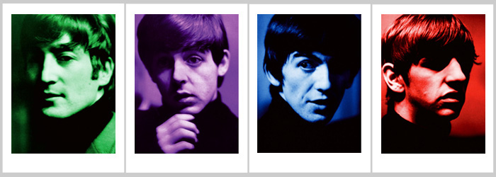 Fab Four Color Solo Portraits