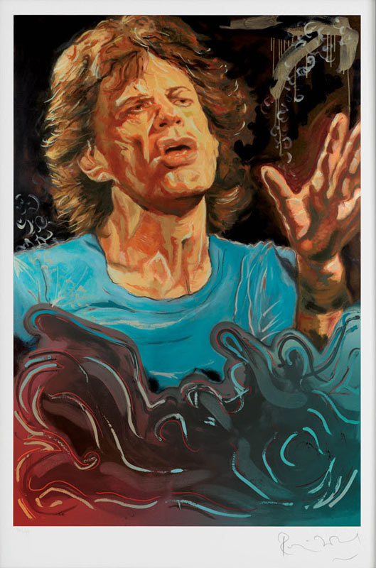 The Blue Smoke Suite - Mick Jagger, 2012 - Paper