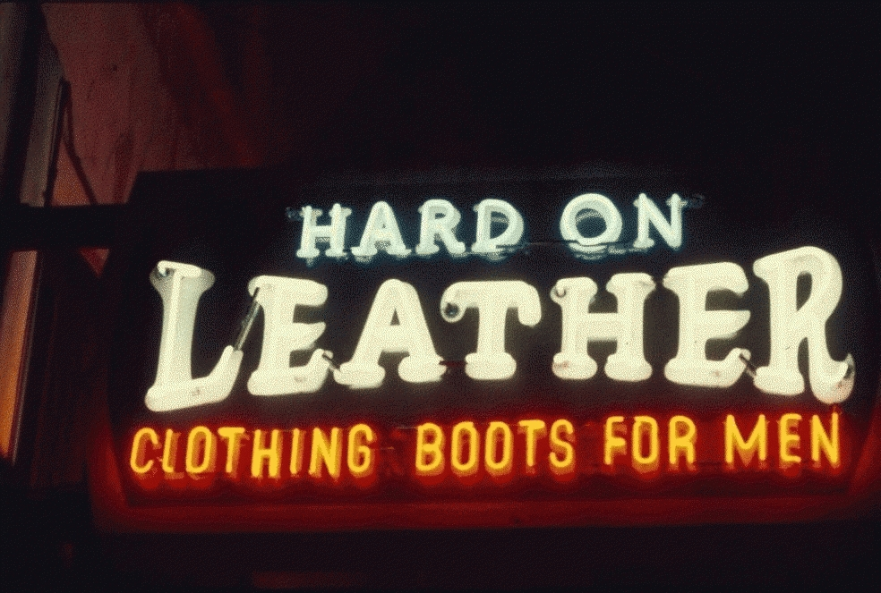 San Francisco Neon Series, Hard On Leather, 1980