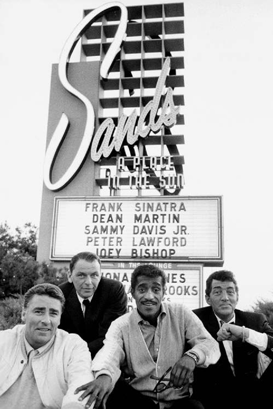 The Rat Pack Outside The Sands Hotel, Las Vegas, 1960