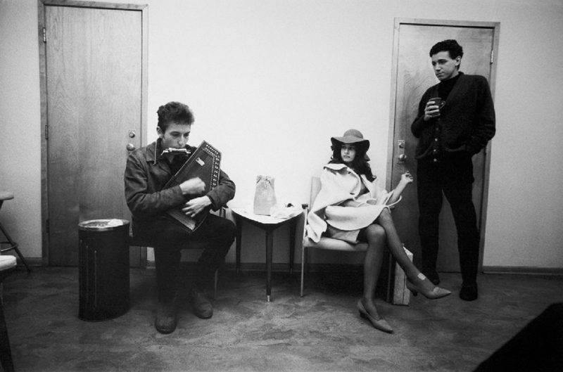 Bob Dylan Backstage with Richard and Mimi Farina, NYC, 1964