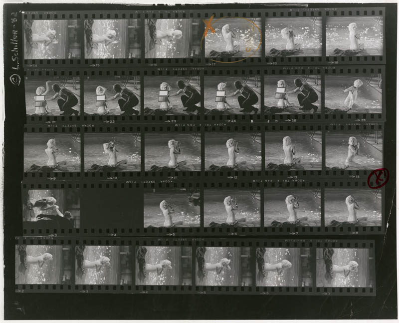 Marilyn Monroe (21), Proof Sheet, on the Set of Something's Got to Give, May, 1962