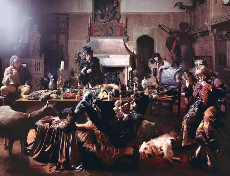 The Rolling Stones - The Banquet, Beggars Banquet Album Cover Shoot, London, 1968