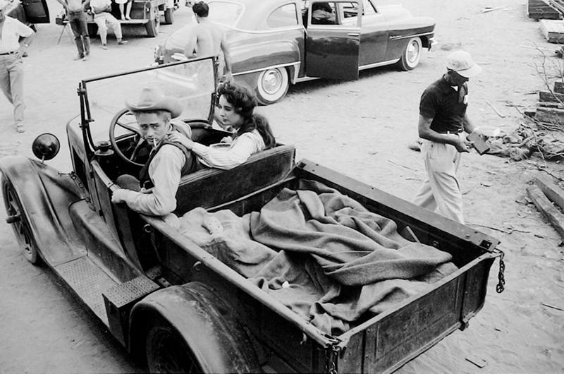 James Dean & Elizabeth Taylor in a Pick-Up Truck, on the Set of Giant, TX, 1955